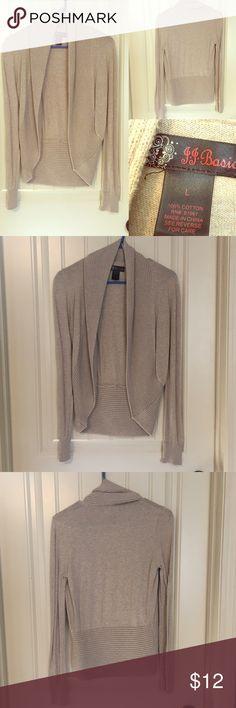 Selling this Tan Cardigan on Poshmark! My username is: mckenzieburns89. #shopmycloset #poshmark #fashion #shopping #style #forsale #j.j. basics #Sweaters