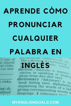Learn how to pronounce any word in English Learn English Grammar, English Vocabulary Words, Grammar And Vocabulary, English Phrases, English Words, Teaching English, English Language, Listening English, English Posters