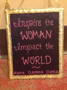 """Inspire the Woman. Impact the World"" - GT AGD crafts"