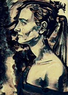 Art girl. Artist Naftaly