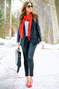 Classroom Couture: Black + White + Red