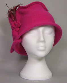 Ireland's Showcase — Trilby Cerise Pink w. Cerise Pink, Art And Craft Design, Feather, Arts And Crafts, Feminine, Shapes, Elegant, Stylish, Unique