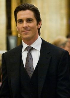 Christian Bale as Bruce Wayne.Hottie !