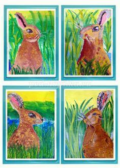 Как нарисовать зайца гуашью для детей от 5 лет поэтапно с фото