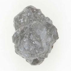 Natural Loose Diamond Rough Irregular Shape Fancy Silver Color 0.61 Ct