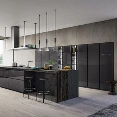 Dapur modern oleh atelier casa s. Luxury Kitchen Design, Best Kitchen Designs, Interior Design Living Room, Küchen Design, House Design, Design Ideas, Kitchen Furniture, Kitchen Decor, Modern Home Bar