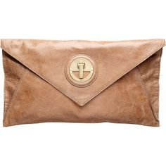 Mimco Molten Envelope Clutch ($240) ❤ liked on Polyvore