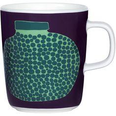 Marimekko Oiva/Purnukka Mug ($26) ❤ liked on Polyvore featuring home, kitchen & dining, drinkware, blue, blue mug, marimekko, marimekko mug, blue jars and stoneware mugs