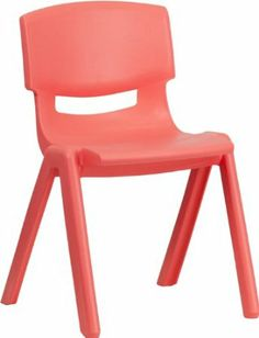 Amazon.com - Flash Furniture YU-YCX-004-BLUE-GG Blue Plastic Stackable School Chair with 13-1/4-Inch Seat Height - Stacking Chairs - $27/each