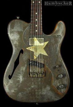 Trussart Deluxe Steelcaster Guitar White Star | Humbucker Music