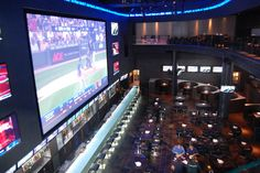 Real Sports Bar and Grill features an HD screen that is two storeys tall.