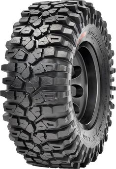 New Sizes and Compounds! The Roxxzilla is Maxxis tires premier SxS rock crawling tire! With radial construction, multi-layer sidewall design, stepped shoulder lugs. 4x4 Tires, Rims And Tires, Wheels And Tires, Cj Jeep, Jeep 4x4, Jeep Wrangler Tires, Truck Rims, Truck Tyres, 4x4 Wheels