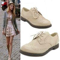 Nuevo 2013 genuino de las mujeres de cuero zapatos de plataforma marca sus Brogues cuero vendimia zapatos oxford para las mujeres zapato