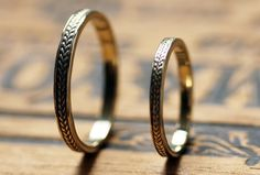 His and hers braided wedding bands