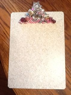 Bling clipboard I made from Pinterest pin