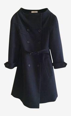 I LOVE this!! Prada Brown/Navy Checks Coat | VAUNTE