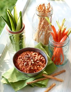 Spicy Ontario Greenhouse Roasted Red Pepper Dip Recipe from Produce Made Simple