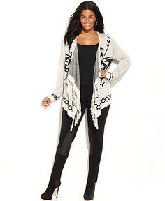 Plus Size Aztec Sweater