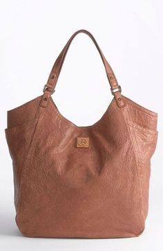 Tory Burch Brown Louiisa Slouchy Leather Tote