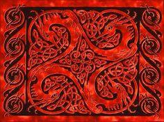 Celtic Knots Dragon Quadrille Tapestries