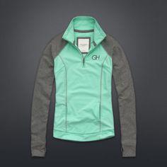 Colorblocked Active Popover Sweatshirt