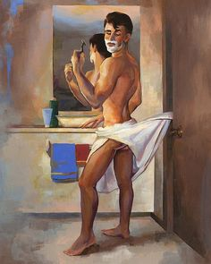 DECENT EXPOSURE, Cheesecake Boy pin-up painting by Paul Richmond by Paulysworld, via Flickr