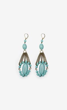 Isabel Marant Teal And Gold Earrings | VAUNTE