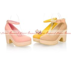New Fashion Sweet Girls Lady's Cute Bowknot Platform Thick Heel Shoes #Annazero