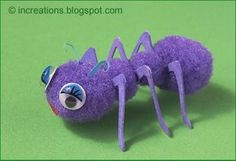 How to make toy insects from pompoms