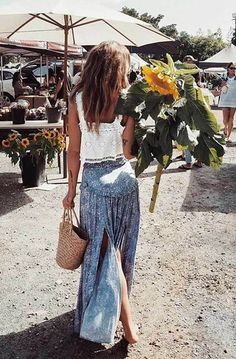 Boho inspirierter Sommerrock , Source by outfits women Boho Bluse, Mode Outfits, Fashion Outfits, Fashion Clothes, Fashion Ideas, Dress Fashion, Looks Hippie, Boho Looks, Look Boho