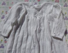 A personal favourite from my Etsy shop https://www.etsy.com/uk/listing/236241514/baby-christening-gown-hand-knitted