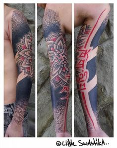 beautiful sleeve from little Swastika tattoos - saving all my monies for work there :)