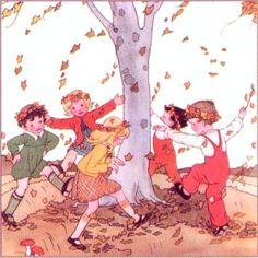 Fall illustration from Rie Cramer