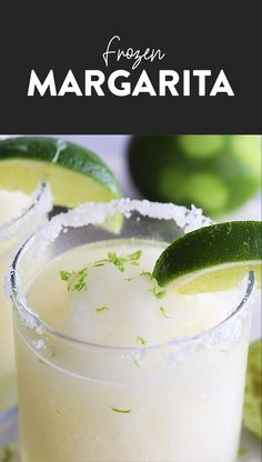 Best Frozen Margarita Recipe {+ Video} - Fit Foodie Finds With just 5 basic ingredients you can whip up the best frozen margarita recipe in under 10 minutes! Make these frozen margaritas all summer long! Frozen Margaritas, Homemade Margaritas, How To Make Margaritas, Blended Margarita Recipe, Coconut Lime Margarita Recipe, Frozen Margarita Recipes, Sweet Margarita Recipe, Frozen Drink Recipes, Strawberry Margarita