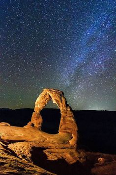 Arch And Milky Way Canvas Print / Canvas Art by Matthew Crowley Photography Delicate Arch and Milky Way in the southern sky, Arches National Park, Moab, Utah. The Places Youll Go, Places To See, Art In The Park, Delicate Arch, Moab Utah, Travel Images, Adventure Is Out There, Go Camping, Milky Way
