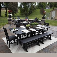 Berlin Gardens Mission Family Dining Set -- room enough for the whole family!  #takelifeoutdoors