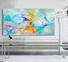 64/40 Inch, Canvas   100% Handmade #Painting by Gabi Ger.  The painting was made…