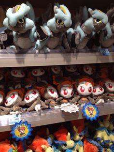 Pokemon Photos from Tokyo - Black Kyurem Meloetta Pirouette Forme plush dolls