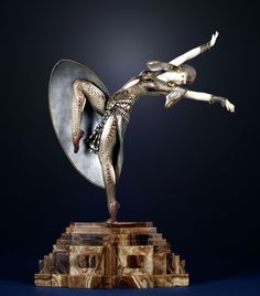 """""""Alméria"""" a large bronze and ivory sculpture by Demetre Chiparus, France circa 1925."""