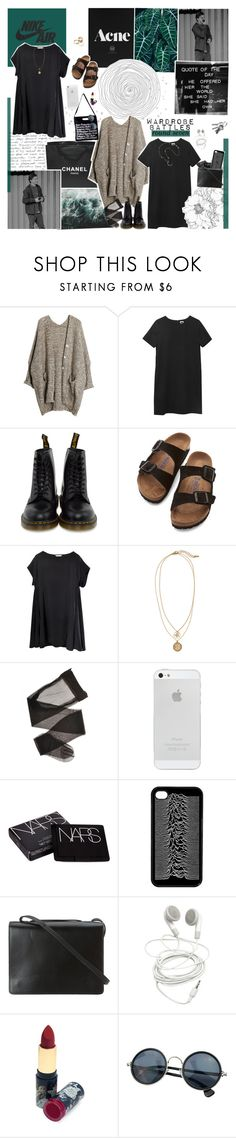 """""""round 7: two-way style ⚘"""" by same-kind-of-different ❤ liked on Polyvore featuring Børn, Chanel, Dr. Martens, Birkenstock, H&M, Me&Ro, American Apparel, NARS Cosmetics, BCBGMAXAZRIA and Accessorize"""