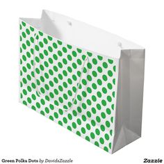 Green Polka Dots Gift Bag This design is available on many products! Click the 'available on' tab near the product description to see them all! Thanks for looking!  @zazzle #art #polka #dots #pattern #wrapping #paper #gift #bag #tag #birthday #holiday #color #black #white #blue #green #orange #yellow #purple #aqua #shop #buy #fun #chic #wrap #modern #classic #simple #easy #design #tag #ribbon #tissue