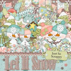 Let It Snow Digital Scrapbook Kit  Digital by JssScrapBoutique, $4.99