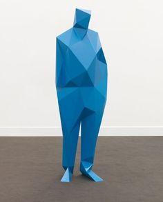 Xavier Veilhan - Richard Rogers, 2009  polyurethane, blue epoxy painting.  176,6 x 56,3 x 35,7cm.