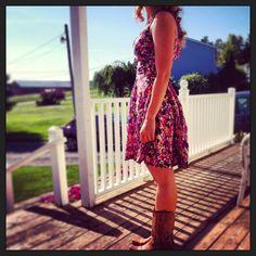 DIY summer dress made by me :)... Simplicity Cynthia Rowley 1654