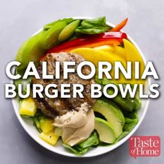 California Burger Bowls Recipe