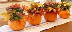 5 minute pumpkin centerpieces, crafts, halloween decorations, seasonal holiday decor