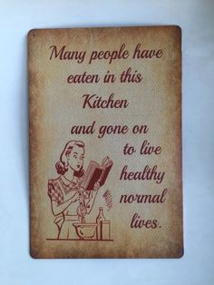 People Eat In This Kitchen Tin Sign Bar pub home Wall Decor Retro Metal  Poster #Generic #ArtsCraftsMissionStyle