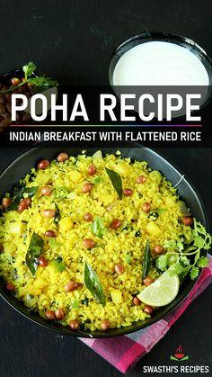 Veg Recipes, Spicy Recipes, Curry Recipes, Indian Food Recipes, Recipes Dinner, Healthy Recipes, South Indian Breakfast Recipes, Rice Breakfast Recipes, Poha Recipe
