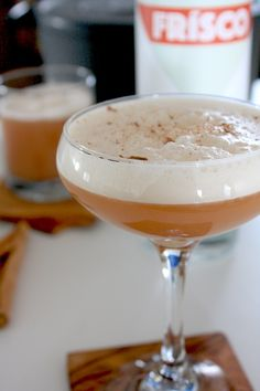 This apple brandy sour is made with apple cider and a San Francisco brandy crafted in the style of a Pisco. Brandy Cocktails, Apple Brandy, Cocktail Ingredients, Cranberry Juice, Pineapple Juice, Refreshing Drinks, Fall Recipes, Apple Cider, A Food