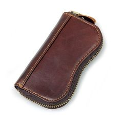 Key Holder Change Coin ID Credit Card Wallet Genuine Leather Case Men Accessory #KeyHolderChina